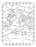Malbuch von Schwester-And Brother Are-Verstecken stock abbildung