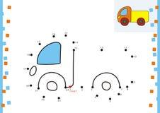 Malbuchpunkt zu punktieren. Der LKW Lizenzfreie Stockbilder