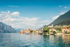 Malcesine加尔达湖,意大利 库存图片