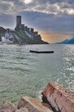 Malcesine, λίμνη Garda, Ιταλία Στοκ Εικόνες