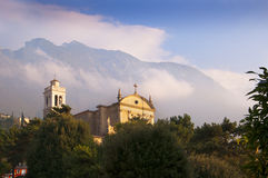 Malcesine Church on Lake Garda Stock Images