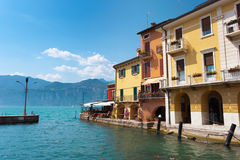 Malcesine coast Royalty Free Stock Images