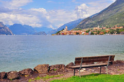 Malcesine on Garda lake Royalty Free Stock Images