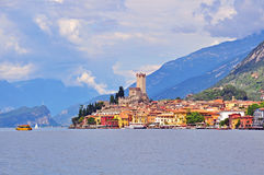 Malcesine on Garda lake, Italy Stock Image