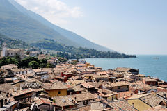 Malcesine, Garda lake, Italy - panoramic view Stock Images