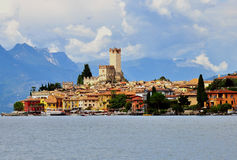 Malcesine, Garda lake Royalty Free Stock Photos