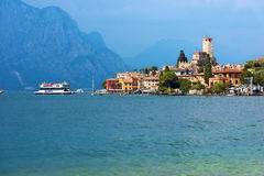 Malcesine - Garda See - Venetien Italien Lizenzfreies Stockbild