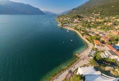 Malcesine - Garda sjö - Italien Fotografering för Bildbyråer