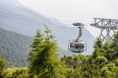 MALCESINE, ITALY - July 16, 2014: Malcesine cable railway to Mon Stock Photo