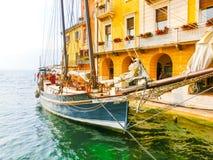 Malcesine, Italy - September 21, 2014:The town on Lake Garda in the Region Veneto Royalty Free Stock Photography