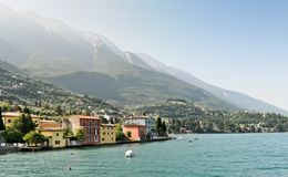 Malcesine from the lake Royalty Free Stock Photos