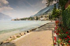 Malcesine at Lake Garda Stock Photo