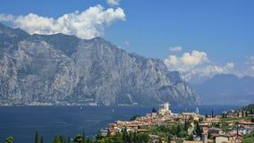 Malcesine, policier de lac - Italie Images stock