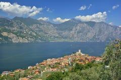 Malcesine, policier de lac - Italie Photo libre de droits