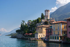Malcesine - Scaliger Castle. The beautiful village Malcesine at the Lago di Garda in the north of Italy. In the center of the village is the Scaligero castle Stock Photo