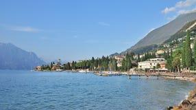 Malcesine sjö Garda, Italien Royaltyfria Foton
