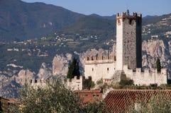 Malcesine slott på sjön Garda Royaltyfri Foto