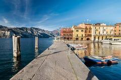 Malcesine is a small town on Lake Garda (Italy). stock photos