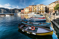Malcesine is a small town on Lake Garda (Italy). Royalty Free Stock Photos
