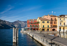 Malcesine is a small town on Lake Garda (Italy). Royalty Free Stock Image