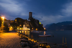 Malcesine sunset Royalty Free Stock Images