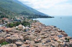 Malcesine - una bella città alla polizia del lago, Italia Fotografia Stock Libera da Diritti