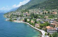 Malcesine - una bella città alla polizia del lago, Italia Immagine Stock
