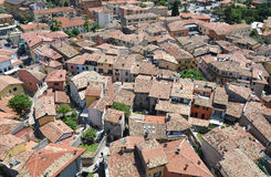 Malcesine - una bella città alla polizia del lago, Italia Immagini Stock Libere da Diritti