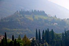 Malcesine vista in the morning miston Lake Garda Stock Photo