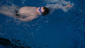 Malchih professionally well in the pool stock footage