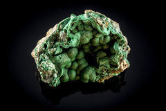 Malchite Mineral Rock. Malachite is an important protection stone and is a birthstone for the zodiac signs of Libra, Scorpio and Capricorn. Malachite is believed Stock Photos