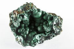Malchite Mineral Rock. Malachite is an important protection stone and is a birthstone for the zodiac signs of Libra, Scorpio and Capricorn. Malachite is believed Stock Images