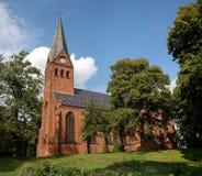 Malchow-Abtei in einem Park Deutschland Lizenzfreies Stockfoto