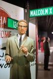 Malcolm X-Wachsfigur Lizenzfreies Stockbild