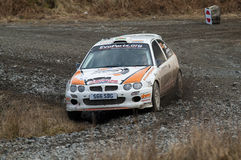 Malcolm Wilson rally 2010 Royalty Free Stock Image