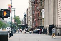 Malcolm X Boulevard in Harlem district. New York Stock Image