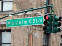 Malcolm X-Boulevard NY Stockbild