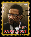 Malcolm X Postage Stamp Stock Photo