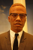 Malcolm X Wax Figure Stock Photo