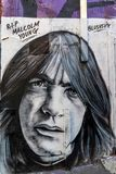 Malcolm Youngs-Graffiti 1 Stockfoto