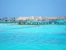 maldive вода виллы стоковая фотография
