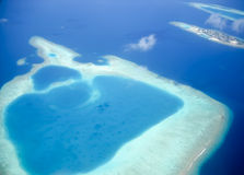 Maldive atoll from above Stock Images