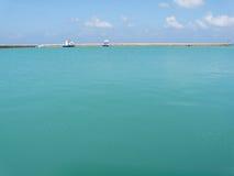 Maldive sea. Maldive fishing boat when sea stay calm Royalty Free Stock Photo