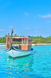 Maldive traditional fishing boat Stock Photo