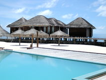 Maldive Tropical swimming pool Royalty Free Stock Photos