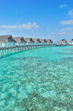 Maldive water villa Royalty Free Stock Image