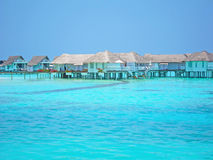 Maldive water villa Stock Photography