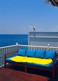 Maldive water villa balcon Stock Photos