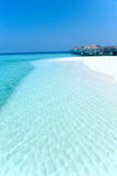 Maldive water villa - bungalows Royalty Free Stock Photography