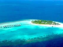 Maldive wyspa od above zdjęcia stock